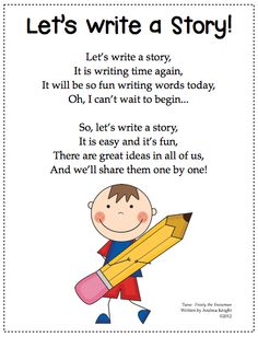 Freebie Writing Song from Creating Readers and Writers: Our Narrative Writing Celebration