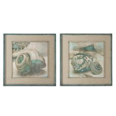 Seashells Wall Art Painting - Set of 2