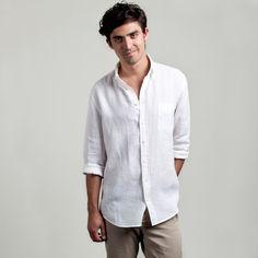 The Linen Shirt White Main Image @ Everlane. Wantttt.
