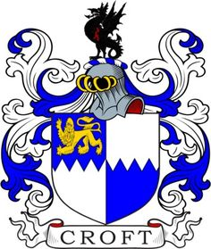 Croft Family Crest and Coat of Arms