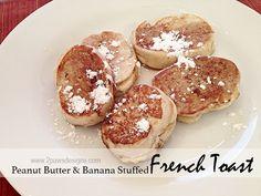 Peanut Butter & Banana Stuffed French Toast recipe