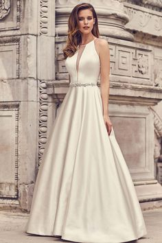 Objective 2019 Sheath Crepe Long Modest Wedding Dresses Sleeveless Floor Length Informal Modest Reception Gowns For Wedding Custom Made Crazy Price Weddings & Events