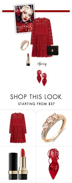 """""""Red lace dress"""" by cly88 ❤ liked on Polyvore featuring Lanvin, Dolce&Gabbana, Jean-Michel Cazabat and Call it SPRING"""