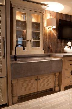 Concrete Farm Sink. Unique!