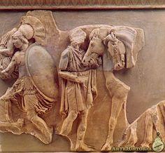 Partenón. Apobates del friso del lado norte - Obra de Fidias,425-420 a.c.  British Museum