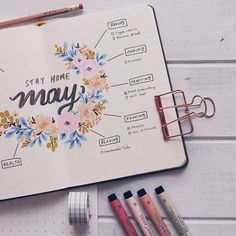 Shayda Campbell sur Instagram: This week on the channel we're all about the bujo! Watch the May Plan-With-Me today and look for this activity tracker on Friday! ❤️