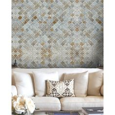 Morocco Tiles Wallpaper ($210) ❤ liked on Polyvore featuring home, home decor, wallpaper, moroccan home decor, moroccan home accessories, non woven wallpaper, moroccan style wallpaper and moroccan wallpaper