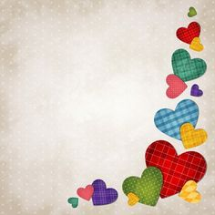 Colored hearts background vector - Vector Background, Vector Heart-shaped free download