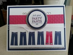 Stampin' Up Party Pants, Patterned Occasions