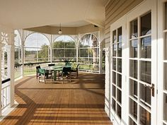 The exterior of the colonial-style house complete with corrugated iron roof was … - Home & DIY Colonial Style Homes, Ranch Style Homes, Ranch Homes, Outdoor Rooms, Outdoor Living, Queenslander House, Australian Homes, Australian Architecture, Beautiful Architecture