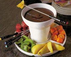 Receitas - Fondue de chocolate - Petiscos.com