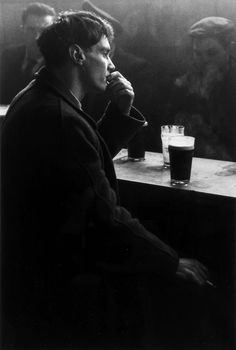 Image result for distraught man smoking cigarette black and white