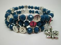 Lactobijou papillon bleu brillant Bracelets, Jewelry, Fashion, Blue Butterfly, User Guide, Hand Made, Papillons, Beads, Moda