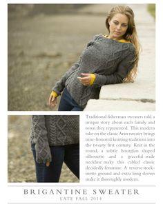 Brigantine Sweater from Swans Island Yarn
