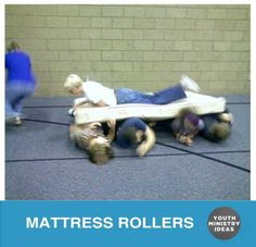 """Split everyone into teams of 5-8 kids and give each team a mattress. Instruct the teams to select one person to be the surfer. Everyone else are the """"rollers."""" Line up the teams at one end of a large room and have the rollers lay side-by-side underneath that mattress with the surfer on top. When …"""