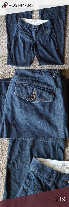 Cabi darkwashed Jeans Good condition  No visible flaws CAbi Jeans Flare & Wide Leg