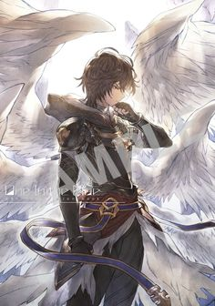 Anime Angel, Kawaii Anime, Shingeki No Bahamut, Stray Dogs Anime, Ange Demon, Anime Kunst, Fantasy Kunst, Cute Anime Boy, Boy Art