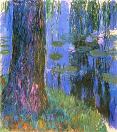 """lonequixote: """" Weeping Willow and Water Lily Pond ~ Claude Monet """""""
