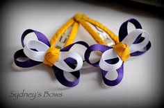 Baltimore Ravens NFL Superbowl Butterfly Ribbon by SydneysBows, $3.99