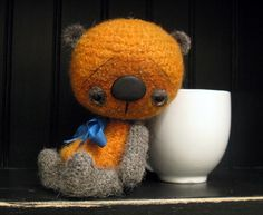 looks so cute! Rupert an anime thread artist bear by SammiBears by sammibears, $90.00