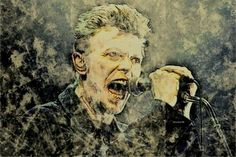 Saatchi Art is pleased to offer the photograph, David Bowie. Edition by ACQUA LUNA. Original Photography: Color, Black & White, Digital, Manipulated on Paper. Celebrity Photography, Color Photography, White Photography, Original Paintings, Original Art, Pop Rocks, David Bowie, Artwork Online, Paper Art