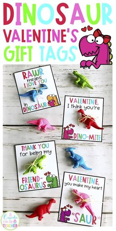 These dinosaur Valentine's Day printables are perfect for classroom valentines! They make a DINO-MITE treat for kids and are easy for parents and teachers to put together. Just add a dinosaur toy! gift for kids Dinosaur Valentine's Day Printable Funny Valentine, Roses Valentine, Valentines Day Cards Diy, Dinosaur Valentines, Kinder Valentines, Valentine Gifts For Kids, Homemade Valentines, Valentines Day Treats, Valentine Sayings