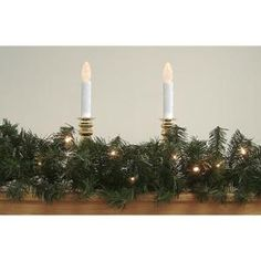 "9' x 8"" Pre-Lit Canadian Pine Artificial Christmas Garland - Clear Lights"