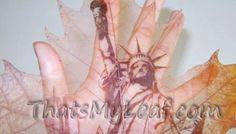 Statue-of-Liberty-Leaf-Art