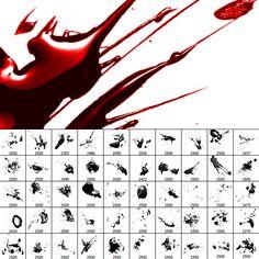 Glossy Blood Splatter Photoshop Brushes | Photoshop Tutorials