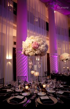 white hydrangea, roses, a touch of pink reception wedding flowers, wedding decor, wedding flower centerpiece, wedding flower arrangement, add pic source on comment and we will update it. www.myfloweraffair.com can create this beautiful wedding flower look.