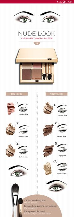 The nude look, perfect for both day & night wear. #clarins #tutorial #douglas