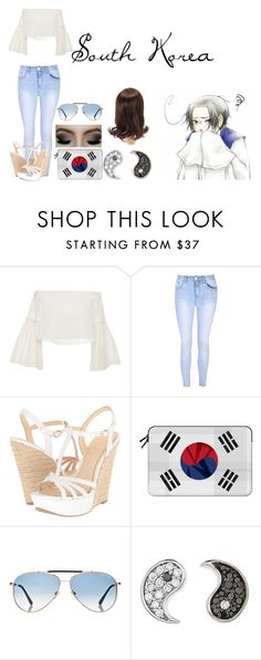 """""""Hetalia Daughter of South Korea"""" by imperfectionitst244 ❤ liked on Polyvore featuring Rosetta Getty, Glamorous, Jessica Simpson, Casetify, Tom Ford and Sydney Evan"""