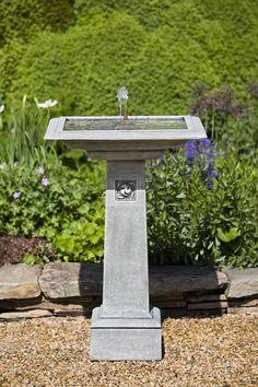 "HampsteadGarden Water Fountain serves as both a birdbath and as a gorgeous center piece fountain.   24""x36"" &800 outdoorfountainpros.com"