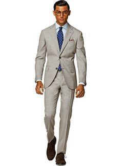Suit_Light_Brown_Plain_Napoli_P3878 300.00