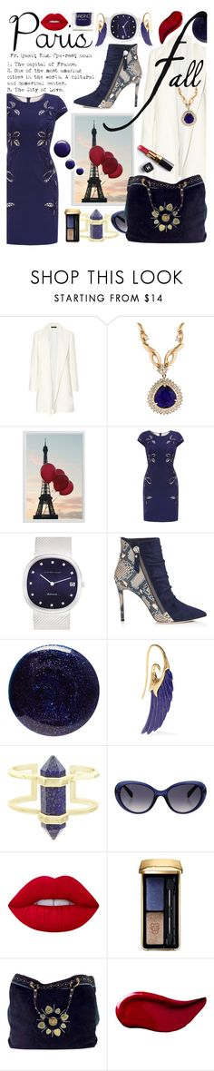 """I Love Paris in The Fall"" by anin-kutak ❤ liked on Polyvore featuring The Row, Pottery Barn, Audemars Piguet, Lauren B. Beauty, Noor Fares, Kendra Scott, Emilio Pucci, Lime Crime, Guerlain and Chanel"