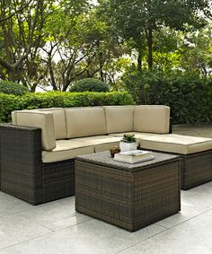 Take a look at this Palm Harbor Five-Piece Seating Set by Crosley on #zulily today!
