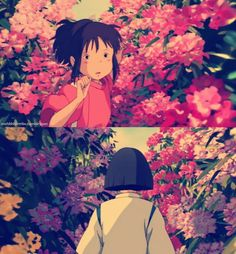Studio Ghibli's Spirited Away by Hayao Miyazaki. The moment where Sen was following Haku through the flower fields