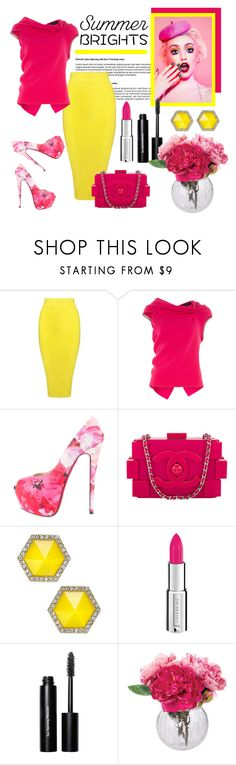 """""""Summer Brights"""" by pixidreams ❤ liked on Polyvore featuring Posh Girl, Roland Mouret, Christian Louboutin, Chanel, ABS by Allen Schwartz, Givenchy, Bobbi Brown Cosmetics, Dot & Bo and summerbrights"""