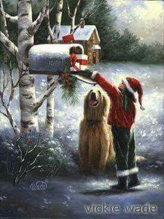 Sending a letter to Santa Claus