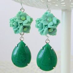 Jade Green earrings