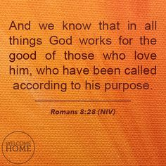 Romans 8:28 #christianquotes #scripture #inspirational #quotes