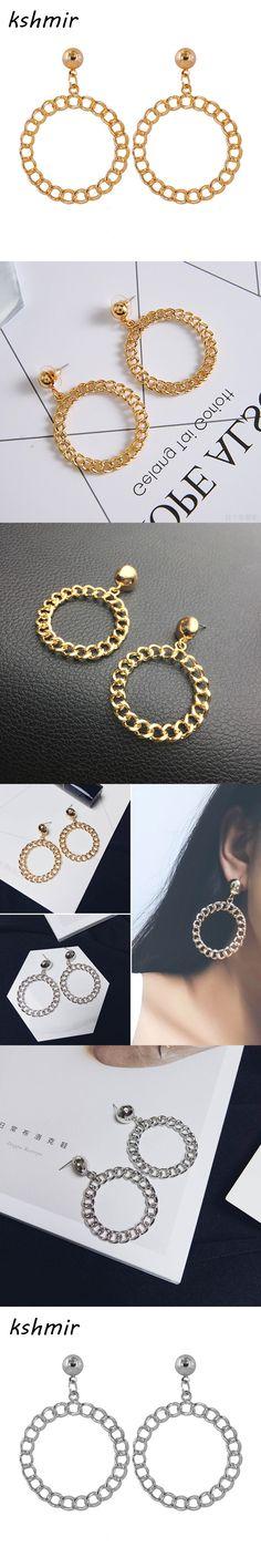 Kshmir Wholesale fashion personality Big circle earrings Han edition temperament stud earrings earrings