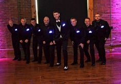 Great idea for a wedding party - Illuminated Pocket Squares