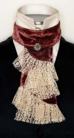 Jabot- decorative lace neck piece for men