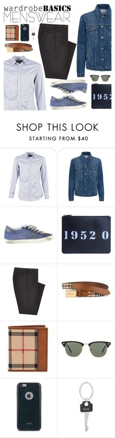"""""""Wardrobe basics"""" by italist ❤ liked on Polyvore featuring Dsquared2, Dondup, Combatant Gentlemen, Burberry, Ray-Ban, Moshi, Paul Smith, mens, men e men's wear"""