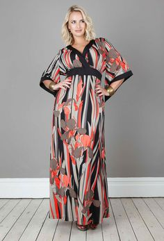 Anna Scholz - Print Crepe Contrast Kimono Dress - I just love this print!