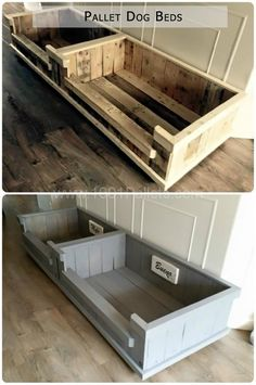 Dog beds out of pallets