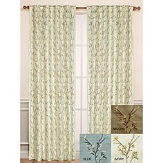 @Overstock - This 100-percent silk panel features an all-over embroidery of delicate vines and flowers. With two layers of lining, this Winslet panel provides insulation and is room-darkening. Rod pockets and back tabs allow two different ways to drape.  http://www.overstock.com/Home-Garden/Winslet-Emboidered-Silk-Window-Panel-95-inch/6493824/product.html?CID=214117 $53.99