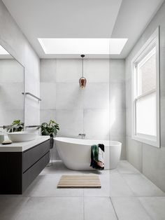 bathroom ideas modern / bathroom ideas - bathroom ideas small - bathroom ideas on a budget - bathroom ideas modern - bathroom ideas master - bathroom ideas apartment - bathroom ideas diy - bathroom ideas small on a budget Family Bathroom, Budget Bathroom, Bathroom Inspo, Bathroom Renovations, Master Bathroom, Bathroom Ideas, Skylight Bathroom, Bathroom Styling, White Bathroom