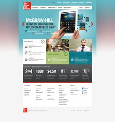 McGraw-Hill Education - Redesign Concept Boards by Sun Yun, via Behance